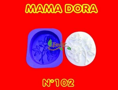 Molde De Caucho Rosas M. Dora Nº102