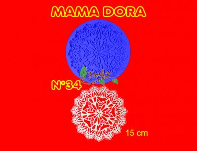 Molde De Caucho Mandala M. Dora Nº34