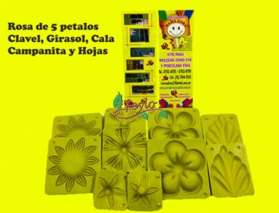 Moldes Frisadores Clavel-girasol-rosa X 5
