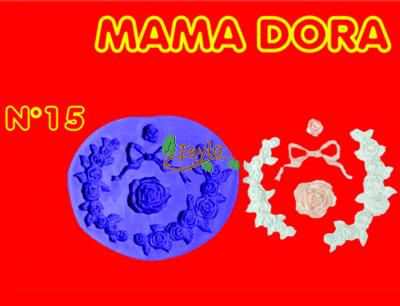 Moldes De Caucho Corona De Flores M. Dora Nº15