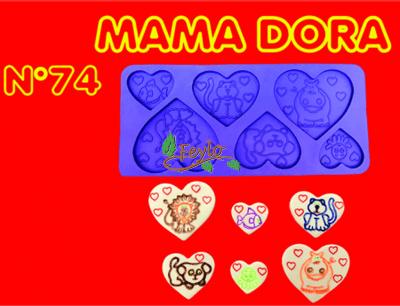 Moldes De Caucho Corazones C/ Animales M. Dora Nº74