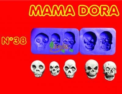 Moldes De Caucho Calavera X 5  M. Dora Nº38