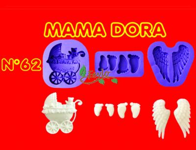 Moldes De Caucho Alas-cochecito-pies M. Dora Nº62
