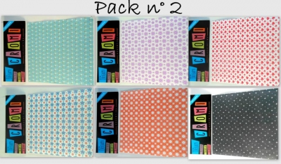 Papel Para Origami 56 Grs 15x15cm X 36 Unid Pack 2