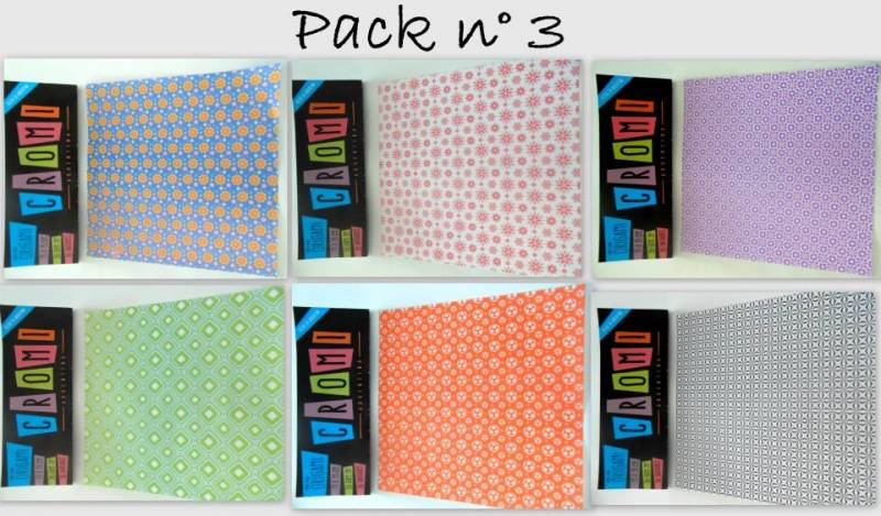 Papel Para Origami 56 Grs 15x15cm X 36 Unid Pack 3