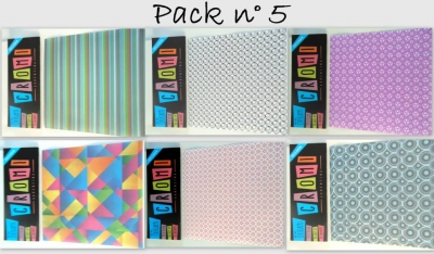 Papel Para Origami 56 Grs 15x15cm X 36 Unid Pack 5