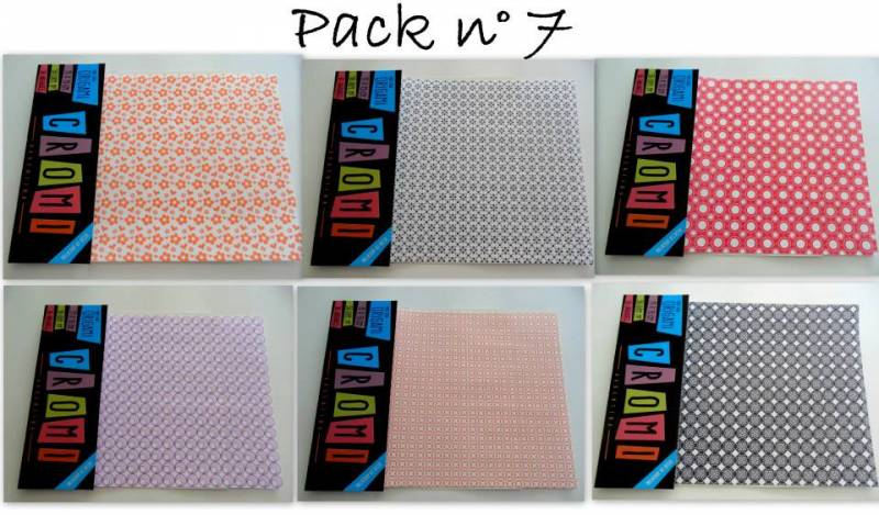 Papel Para Origami 56 Grs 15x15cm X 36 Unid Pack 7