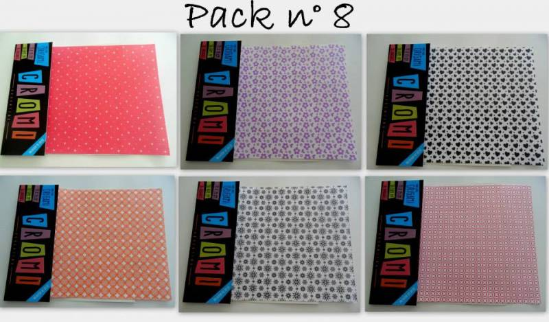 Papel Para Origami 56 Grs 15x15cm X 36 Unid Pack 8