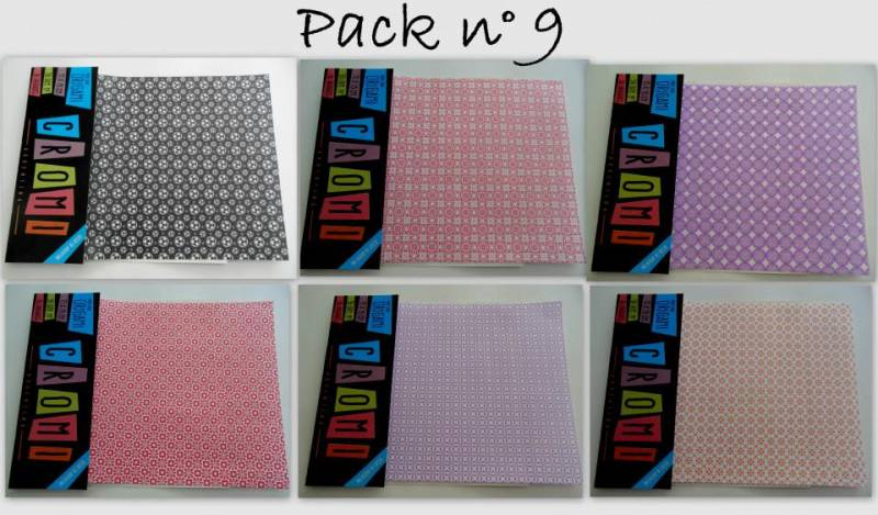 Papel Para Origami 56 Grs 15x15cm X 36 Unid Pack 9
