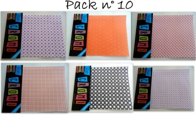 Papel Para Origami 56 Grs 15x15cm X 36 Unid Pack 10