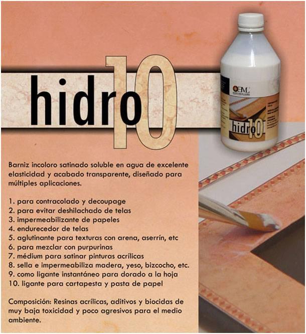 Hidro 10 Eml ( Base Poliuretanico Al Agua ) X 125 Cc