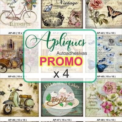 Promo: Apliques Autoadhesivos Eml (15x15) X 4 Unid