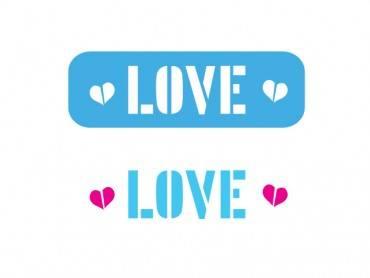 Stencil Eq Mini 297- Love
