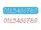 Stencil Eq Chico 4.5 X 30 Cm 217 - Números Estilo Country