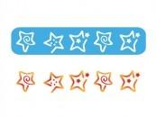 Stencil Eq Chico 4.5 X 30 Cm 226 - Estrellas Dibujadas