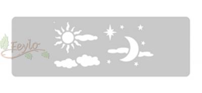 Stencil Eq Grande 13.5 X 30 Cm 3 - Sol Y Luna