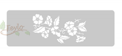 Stencil Eq Grande 13.5 X 30 Cm 10 - Floral
