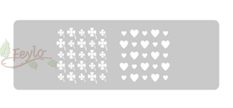 Stencil Eq Grande 13.5 X 30 Cm 11 - Treboles Y Corazones