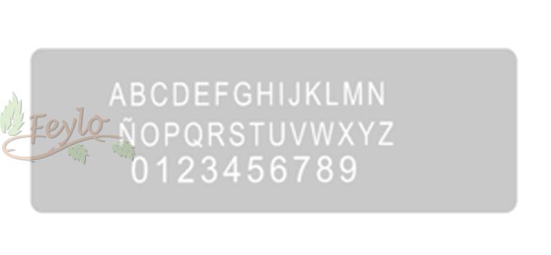 Stencil Eq Grande 13.5 X 30 Cm 24 - Letras Y Numeros
