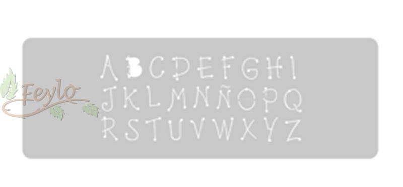 Stencil Eq Grande 13.5 X 30 Cm 35 - Abecedario Country