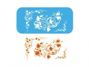 Stencil Eq Grande 13.5 X 30 Cm 55 - Esquineros Y Arabescos