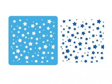 Stencil Eq 15x15cm-903 Fondo De Estrellas