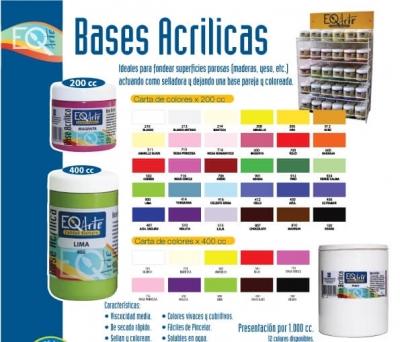 Exhibidor Base Acrilicas Eq Arte X 200 Cc (30 X 6 Un.)