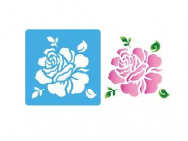 Stencil Eq 10x10cm-810 Petalo De Rosa