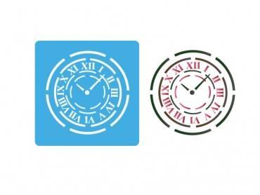 Stencil Eq 10x10cm-812 Reloj Chico