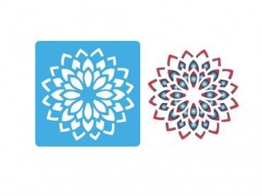 Stencil Eq 10x10cm-814 Mandala Chica