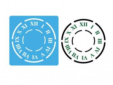 Stencil Eq 15x15cm-911 Reloj Grande