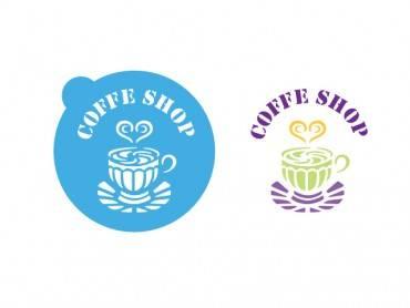 Stencil Eq 10x10cm-820 Redondo Cofee Shop