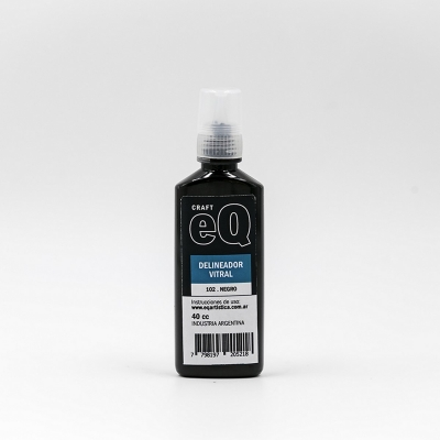 Delineador Vitral Eq Arte X 40 Ml Negro