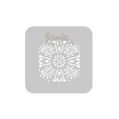 Stencil Eq 10 X 10 Cm 831 - Tulipanes Y Arabescos
