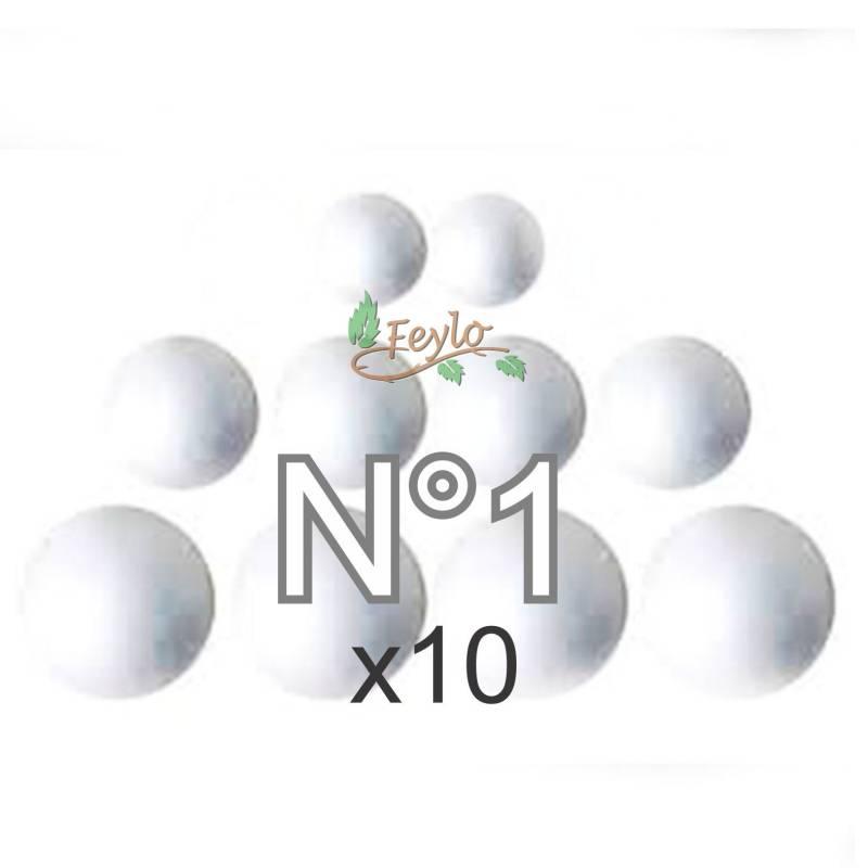 Esferas De Telgopor Nº1 X 10 Unidades