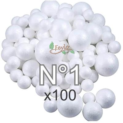 Esferas De Telgopor Nº1 X 100 Unidades
