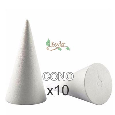 Cono De Telgopor  (9,5 Cm X 6 Diam.) X 10 Unidad
