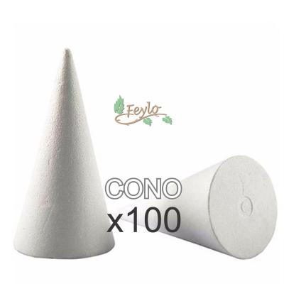 Cono De Telgopor  (9,5 Cm X 6 Diam.) X 100 Unidad