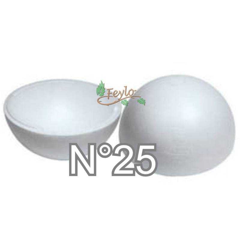 Esferas De Telgopor Hueca Nº25 X 1