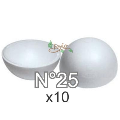 Esferas De Telgopor Hueca Nº25 X 10