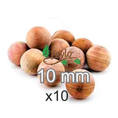 Esfera De Madera Ø 10mm. X 10 Unidad