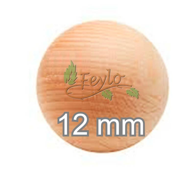 Esfera De Madera Ø 12mm.x 1 Unidad