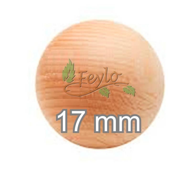 Esfera De Madera Ø 17mm.x 1 Unidad