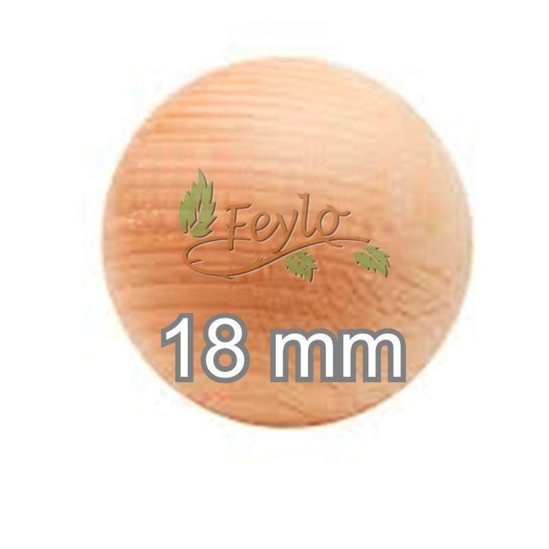 Esfera De Madera Ø 18mm.x 1 Unidad