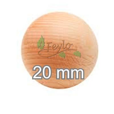 Esfera De Madera Ø 20mm.x 1 Unidad