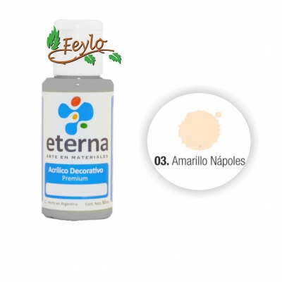 Eterna Acril.dec. Amarillo Napoles  50ml