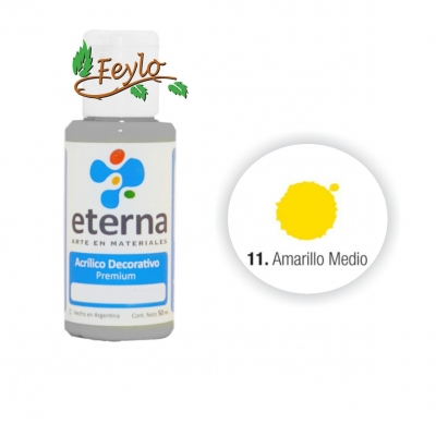 Eterna Acril.dec. Amarillo Medio    50ml