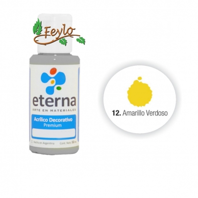 Eterna Acril.dec. Amarillo Verdoso  50ml