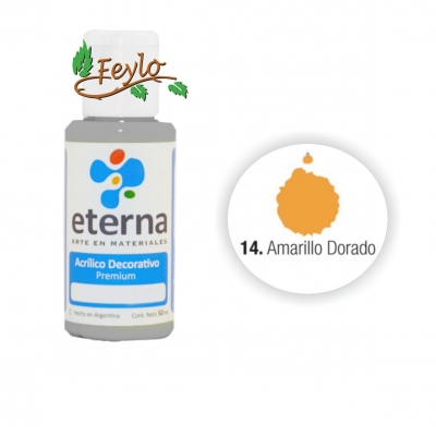 Eterna Acril.dec. Amarillo Dorado   50ml