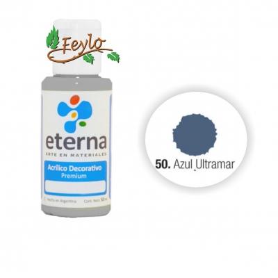 Eterna Acril.dec. Azul Ultramar     50ml
